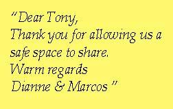 thank you Tony